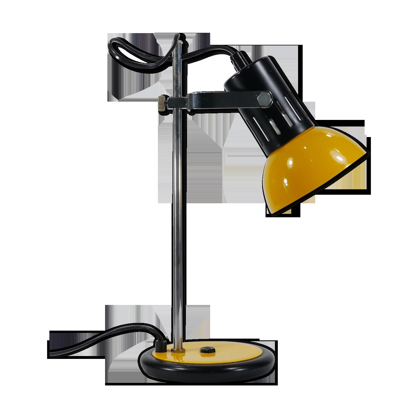 Lampe de bureau jaune et noire métal jaune vintage rp n uw