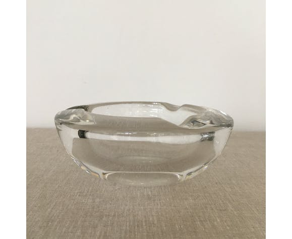 Ashtray round vintage in Vannes France Crystal