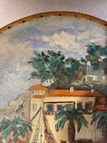 Tableau ancien, Marine, la Riviera années 50/60
