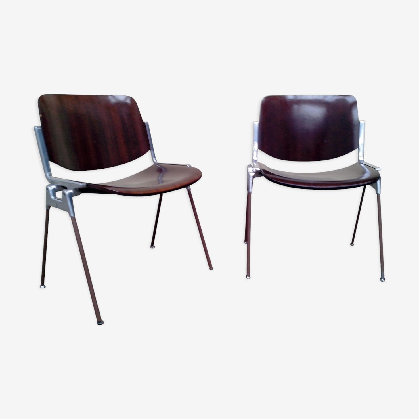 Paire de chaises castelli design 1970