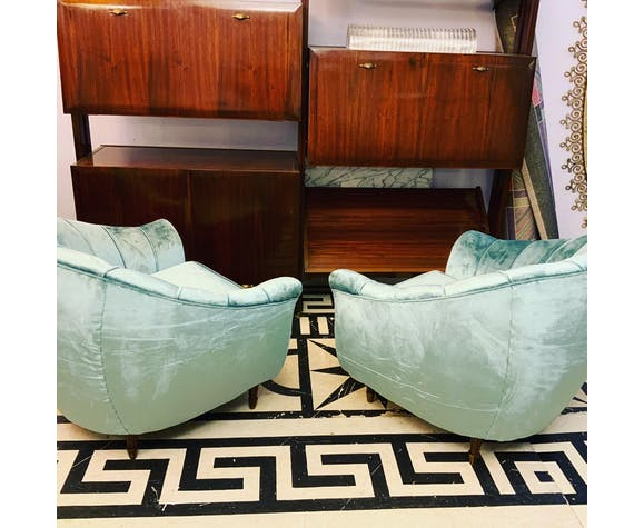 Paire de fauteuils italiens des années 1940