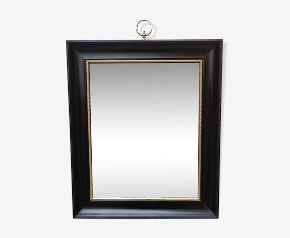 Napoleon III blackened wooden mirror 53 x 63 cm