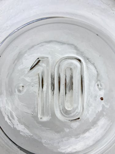 Bouteille dame-jeanne en verre soufflé 10L