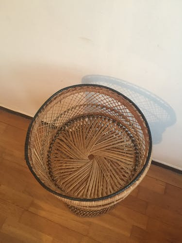 Rattan and bamboo plant holder