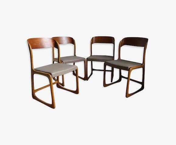 4 chaises traineau Baumann
