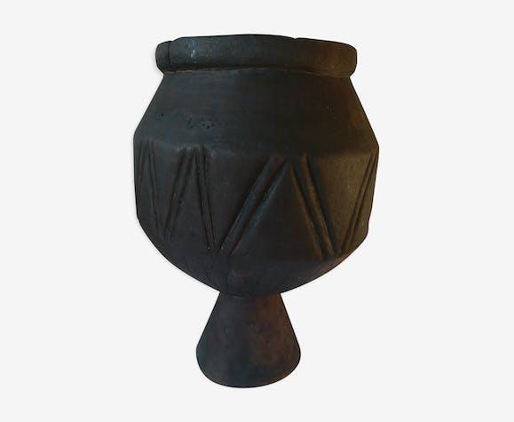 Cache pot africain en bois