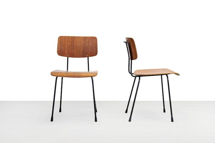 Deux chaises de salle à manger modèle 1262 de A. Cordemeyer pour Gispen, années 1960