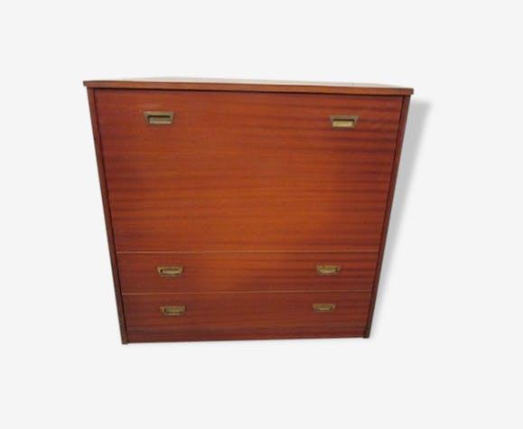 lit d 39 appoint pliant dans meuble bois mat riau. Black Bedroom Furniture Sets. Home Design Ideas