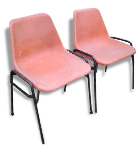 Chaise design orange best chaise extrieur orange metal - Chaise en plexiglas transparent ...