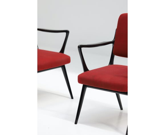 Paire de fauteuils par Alfred Hendrickx pour Belform