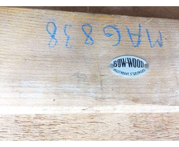 Table de jeux bow wood Steiner 1960