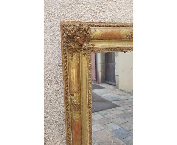 Miroir au mercure d'époque Restauration XIXeme 85cm