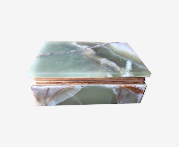 Boîte à cigare en marbre vert