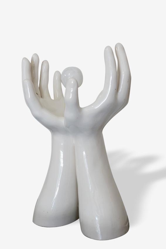 Lampe mains en céramique