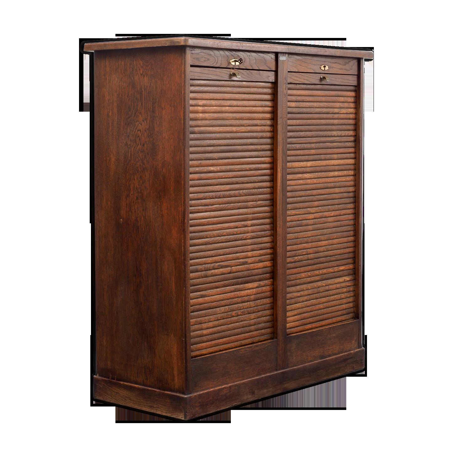 Armoire de bureau années en chêne foncé bois matériau