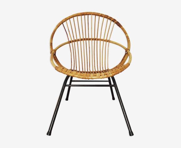 Mid century modern bamboo armchair