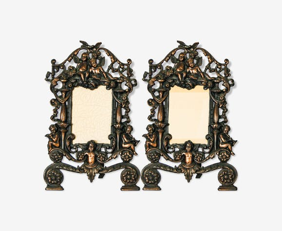 Pair Of Victorian Copper Picture Frames Selency