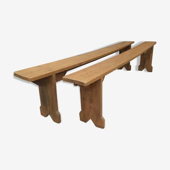 Pair of farm benches
