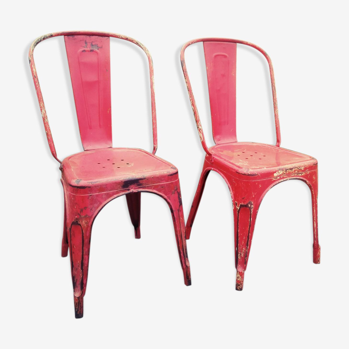 Paire de chaises Tolix ancienne