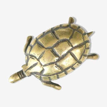 Box turtle in brass, years 70