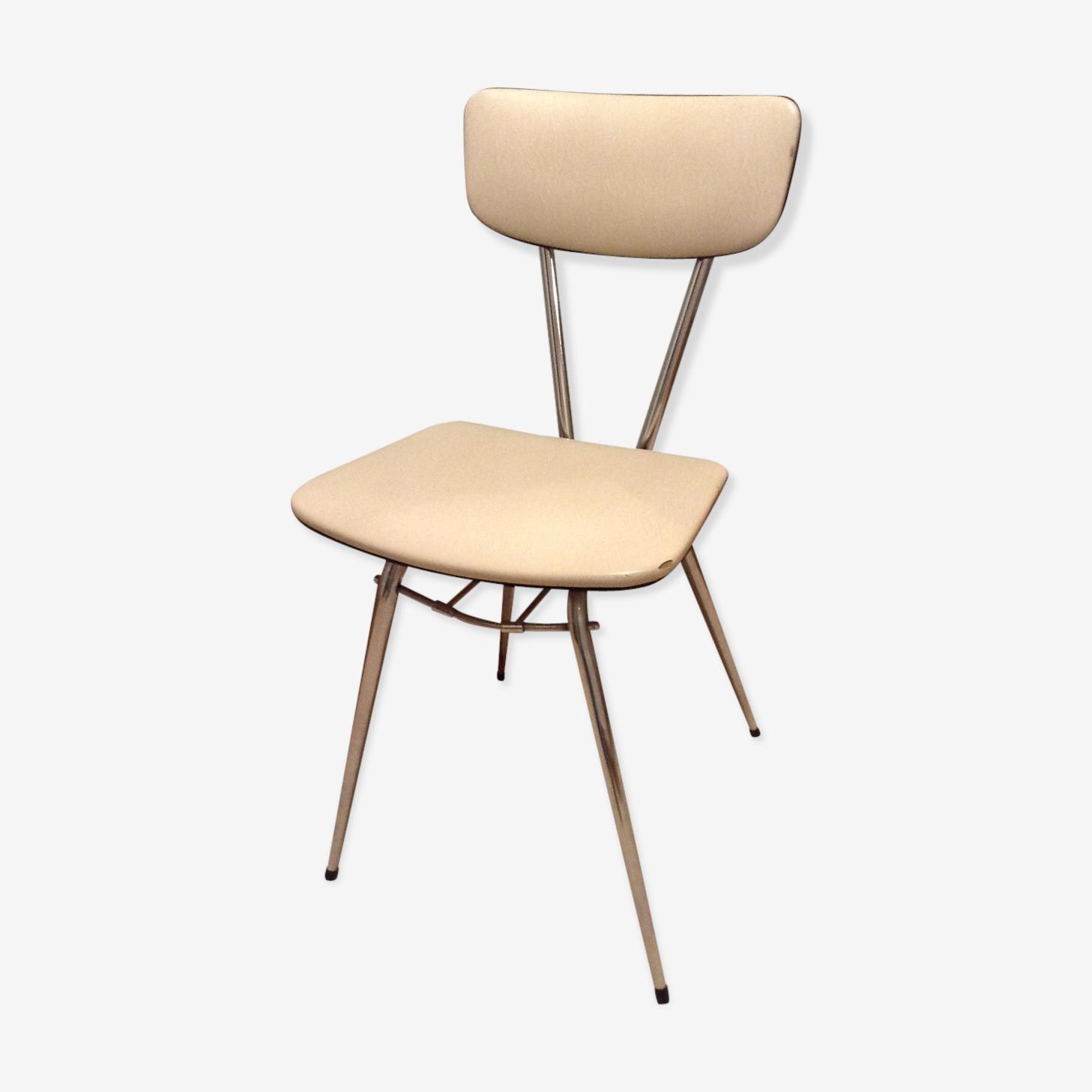 Chaise skaï blanc
