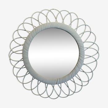 Miroir en rotin  41x41cm
