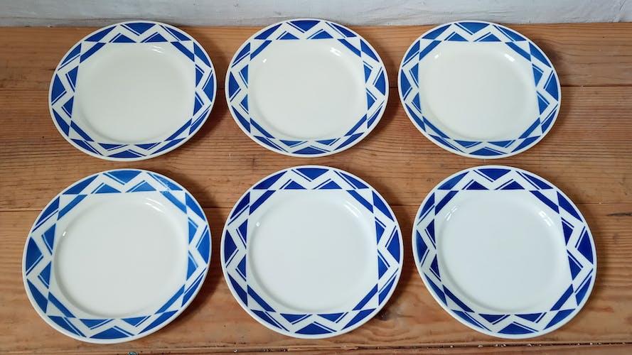 Six assiettes de Badonviller