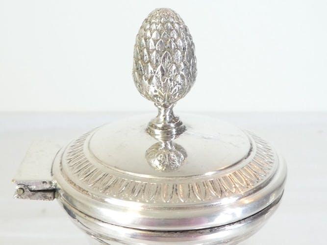 Théiere Italienne en métal argenté de style Empire