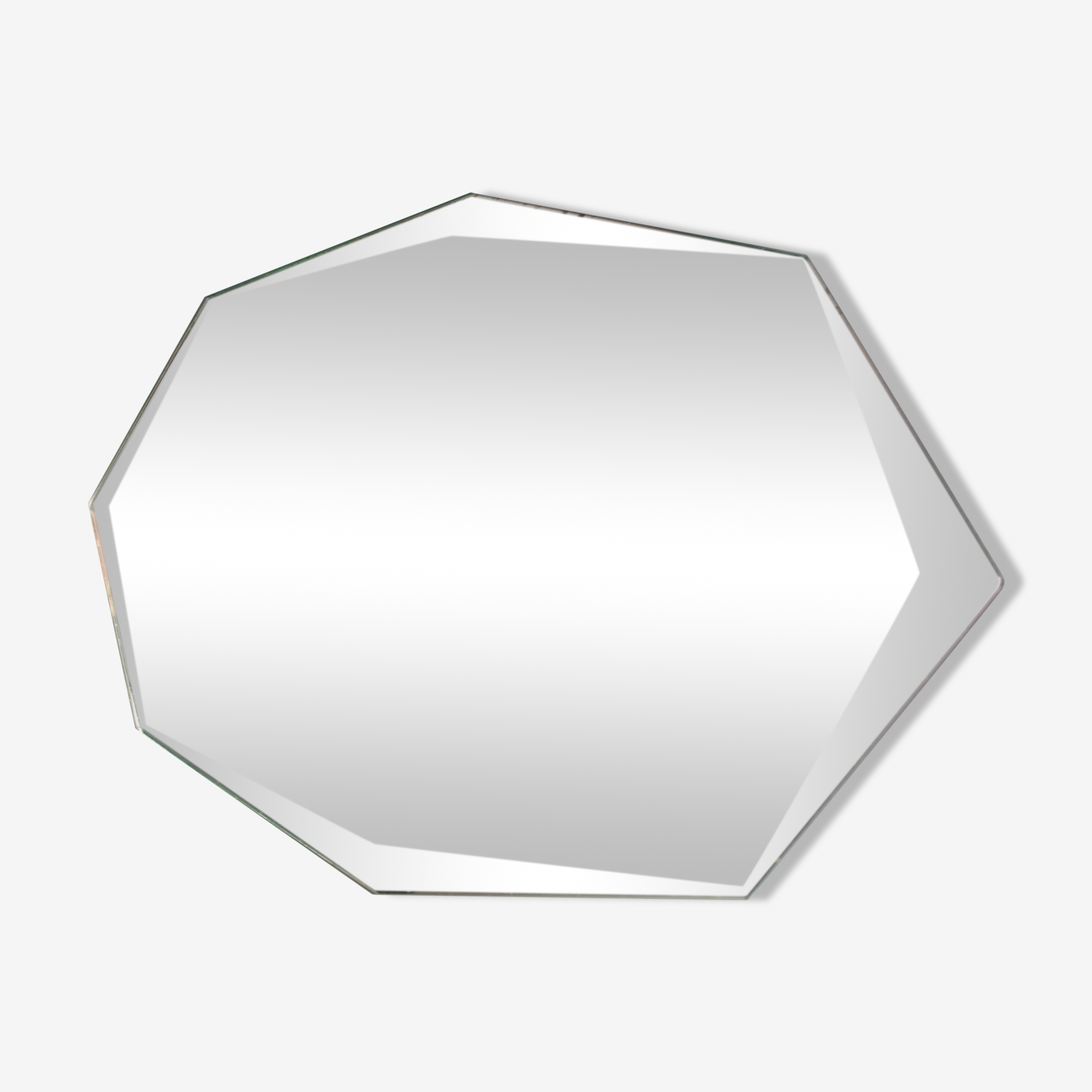 Miroir octogonal biseauté 23 x 44 cm