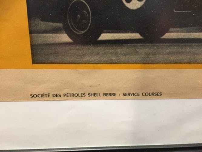 Acienne poster triumph shell berre a reims 14 july 1957