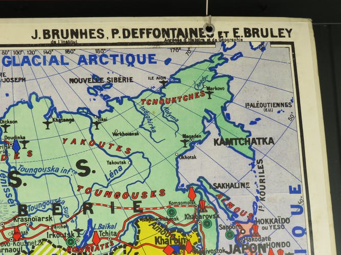 Carte scolaire ancienne Asie n°22 - collection Jean Brunhes