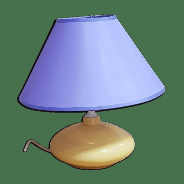 Lampe Dvsjkac Jaune À CéramiquePorcelaineamp; Pied Poser Faïence Bon Classique État 1960 4RjLA5