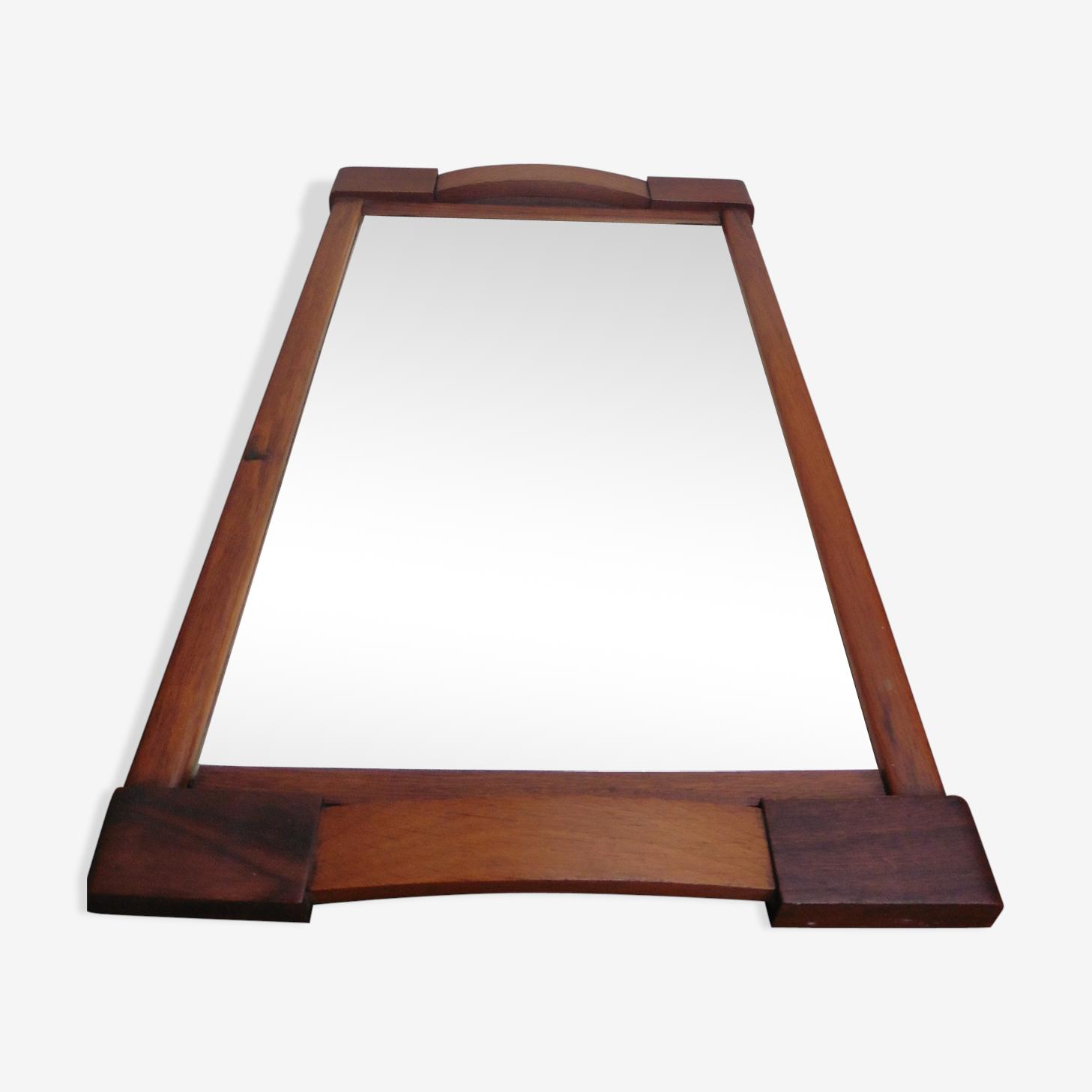 Tray mirror wood