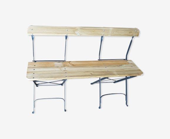 Banc de jardin en fer et bois - bois (Matériau) - bois (Couleur ...