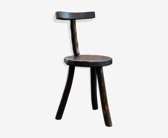Chaise valet brutaliste tripode - bois (Matériau) - bois (Couleur ...