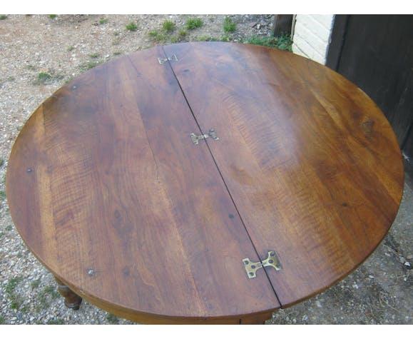 Table ronde demi lune plateau pliable console
