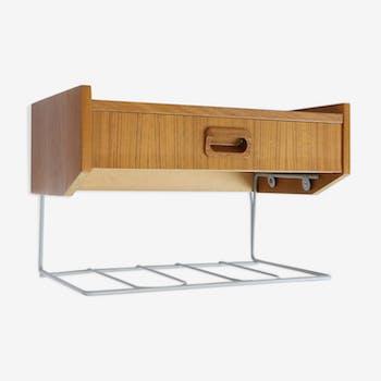 Table de chevet suspendue en teck, 1960