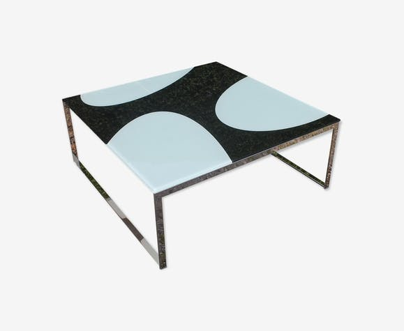 Table basse design white & black