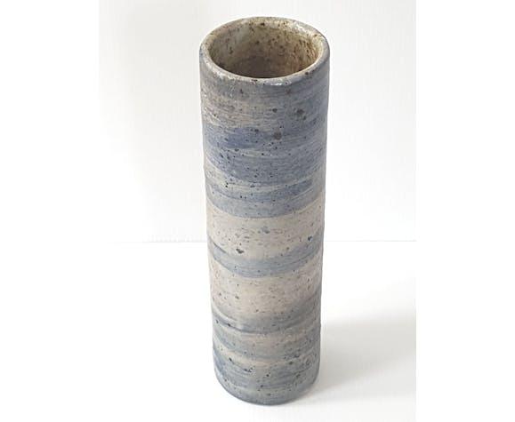 Vase rouleau en grès 1970 vintage