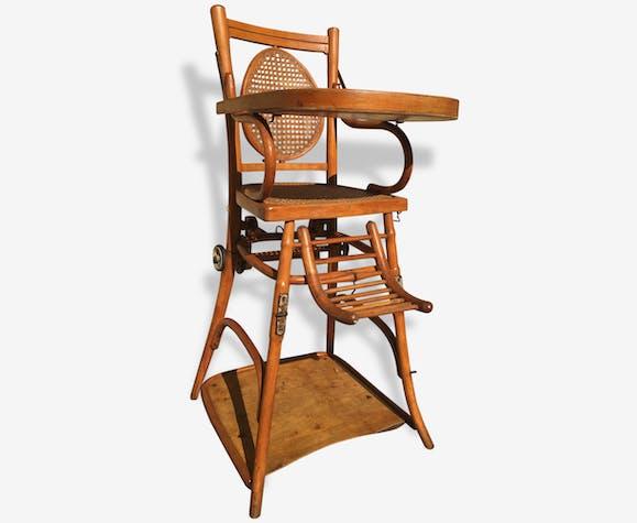 Chaise haute pour enfant Baumann en bois tourné et courbé et