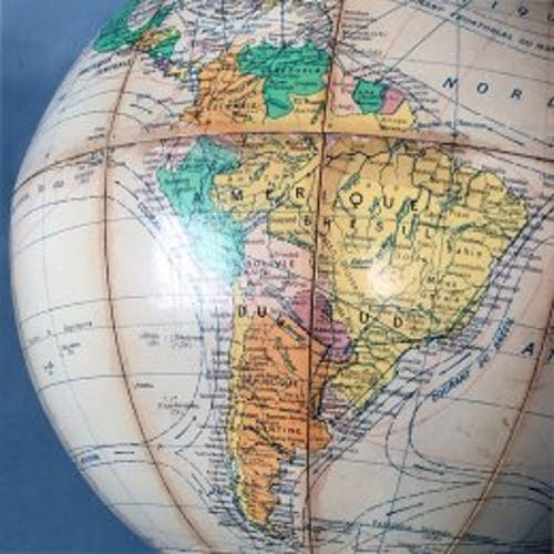 Mappemonde globe terrestre années 50