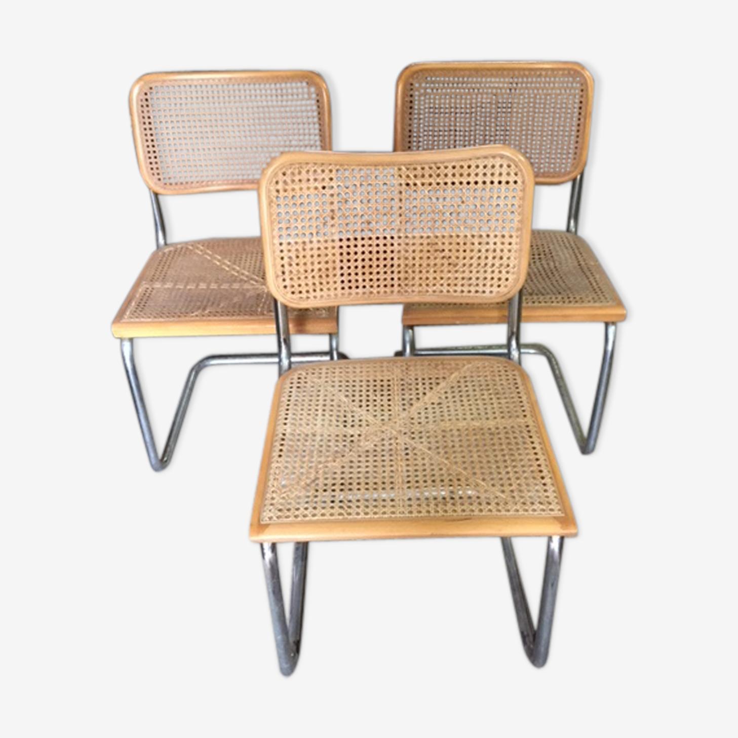 Chaises Cesca B32 par Marcel Breuer