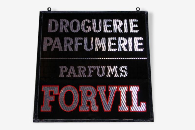 Ancienne enseigne parfums FORVIL