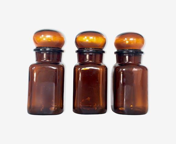 Flacons apothicaire verre ambré