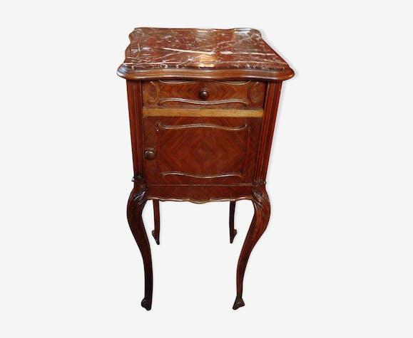chevet 19201930 années bois Table de dessus marbre gfb67yvY