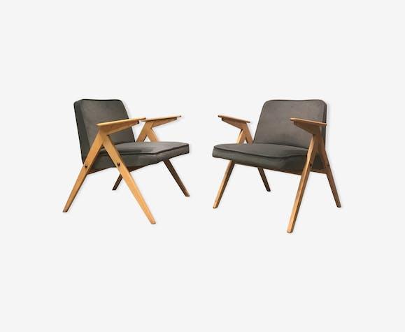 Paire de fauteuils, type 300 177, conçu par J. Chierowski, années 1960