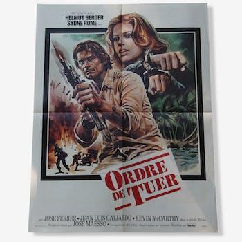 """Affiche de cinéma originale """"Ordre de Tuer"""""""