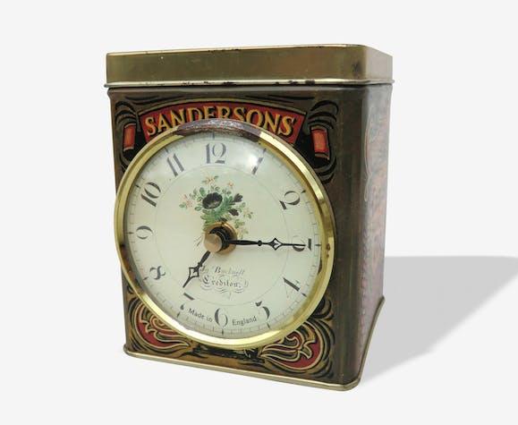 Boîte à thé Sandersons avec horloge
