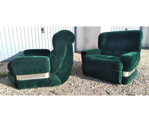 Paire de fauteuils années 70