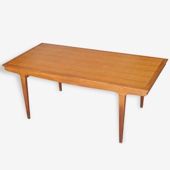 Table de salon scandinave vintage en chêne